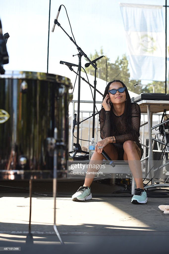 Musician Zoe Kravitz of Lolawolf performs on stage during 2015 Budweiser Made in America festival at Benjamin Franklin Parkway on September 6, 2015 in Philadelphia, Pennsylvania.