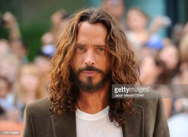 Musician/actor Chris Cornell arrives at the premiere of 'Machine Gun Preacher' at Roy Thomson Hall during the 2011 Toronto International Film...