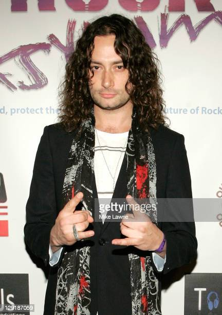 Musician/actor Constantine Maroulis attends ZO2's Rock Asylum Benefit Concert at the Hiro Ballroom at The Maritime Hotel on October 13 2011 in New...