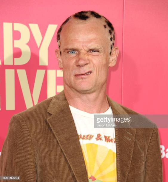 Musician/actor Flea attends the premiere of 'Baby Driver' at Ace Hotel on June 14 2017 in Los Angeles California