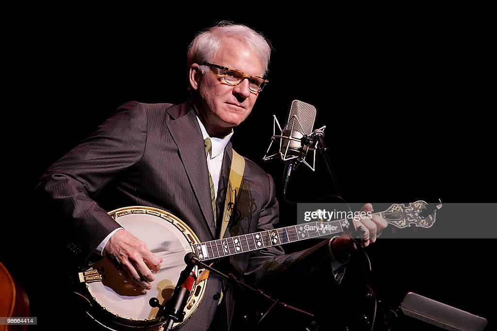 Musician/actor Steve Martin performs in concert with the Steep Canyon Rangers at the Long Center on April 25 2010 in Austin Texas