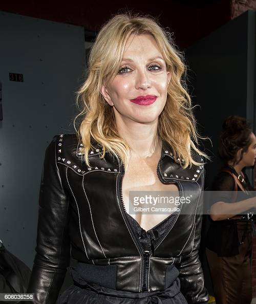 Musician/actress Courtney Love is seen leaving Marc Jacobs Spring 2017 fashion show during New York Fashion Week at Hammerstein Ballroom on September...