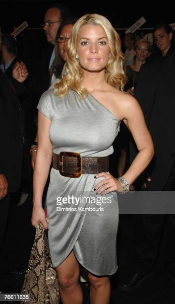 Musician/actress Jessica Simpson at Michael Kors Spring 2008 during MercedesBenz Fashion Week at the Tent Bryant Park on September 9 2007 in New York...