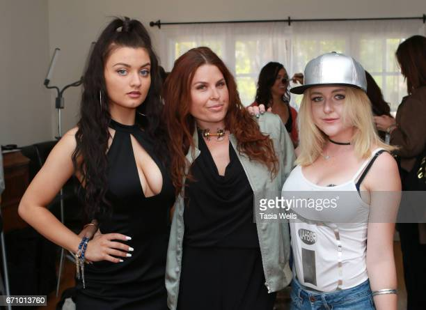 Musician/actress Laci Kay celebrity stylist Ali Levine and musical artist/actress Mahkenna at A Day of IMPRESSIONS with Brands and Influencers at The...