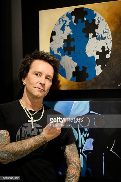 Musician/artist Billy Morrison attends an VIP Opening Reception For 'DisEase' An Evening Of Fine Art With Billy Morrison at Mouche Gallery on...