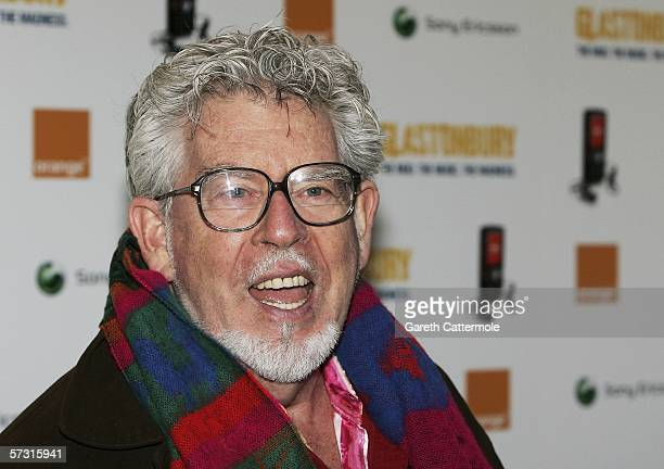 Musician/Artist Rolf Harris arrives at the Premiere of 'Glastonbury' at the Prince Charles Cinema on April 11 2006 in London England