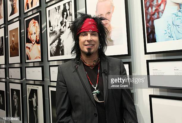 Musician/author/photographer Nikki Sixx during the IRIS Nights Lecture for BEAUTY CULTURE at the Annenberg Space for Photography on August 25 2011 in...