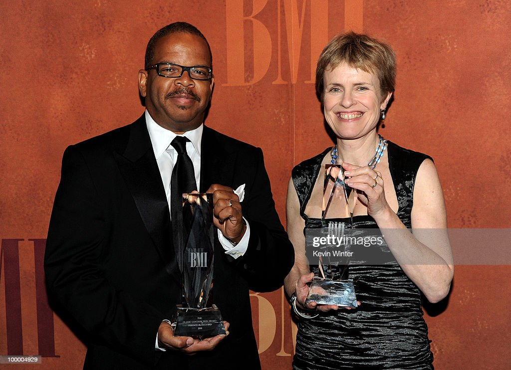 Musician/composer Terence Blanchard (L) accepts the Classic Contribution Award and composer Rachel Portman accepts the Richard Kirk Award at the 2010 BMI Film and Television Awards at the Beverly Wilshire Hotel on May 19, 2010 in Beverly Hills, California.