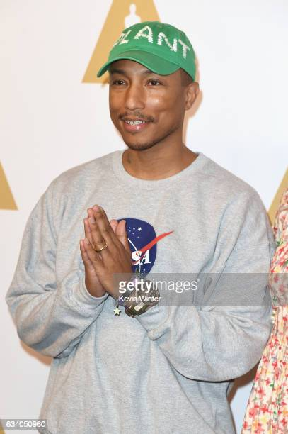 Musician/producer Pharrell Williams attends the 89th Annual Academy Awards Nominee Luncheon at The Beverly Hilton Hotel on February 6 2017 in Beverly...