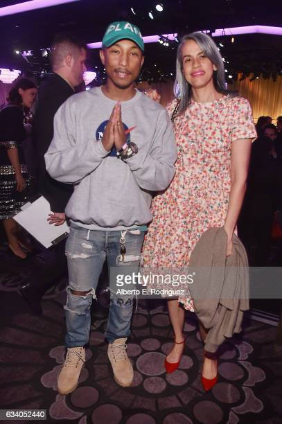 Musician/producer Pharrll Williams and Mimi Valdes attend the 89th Annual Academy Awards Nominee Luncheon at The Beverly Hilton Hotel on February 6...