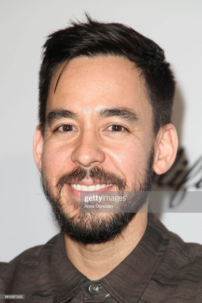 Musician/record producer <a gi-track='captionPersonalityLinkClicked' href=/galleries/search?phrase=Mike+Shinoda&family=editorial&specificpeople=657527 ng-click='$event.stopPropagation()'>Mike Shinoda</a> attends a special pre-GRAMMY media presentation and press conference at The Conga Room at L.A. Live on February 8, 2013 in Los Angeles, California.