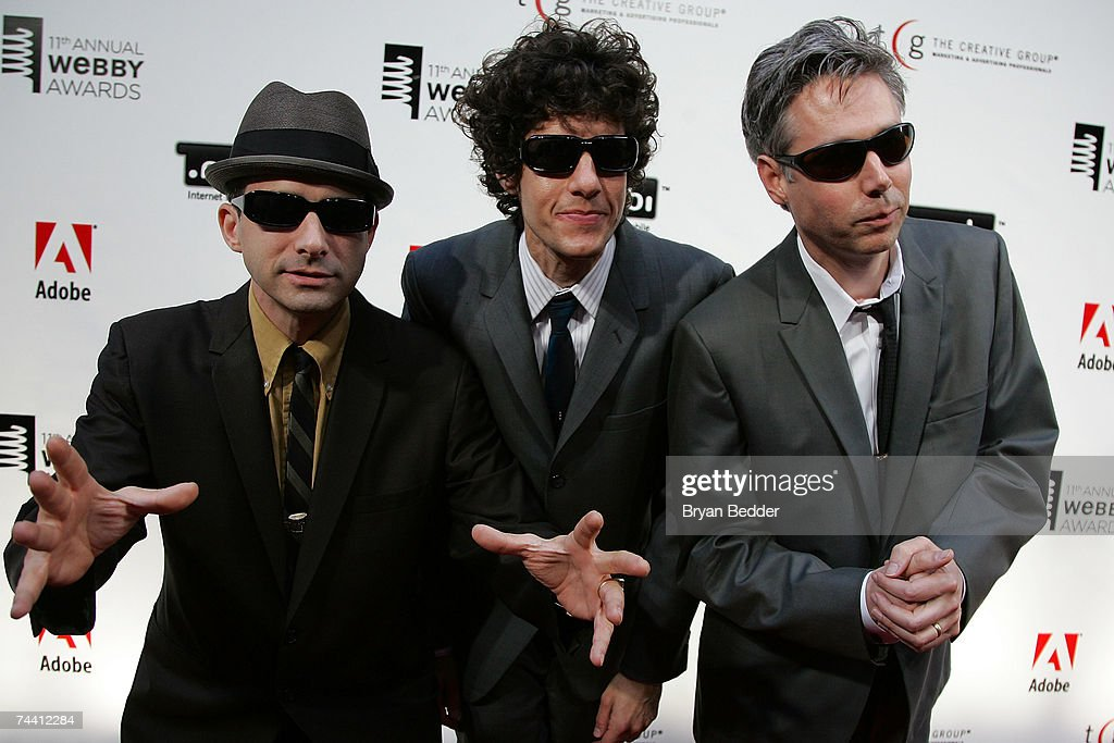 Musicians Adam Horovitz, Mike Diamond and Adam Yauch of the Beastie Boys arrive at the 11th Annual Webby Awards at Chipriani Wall Street June 5, 2007 in New York City.