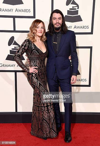 Musicians Adriel Denae and Cory Chisel attend The 58th GRAMMY Awards at Staples Center on February 15 2016 in Los Angeles California