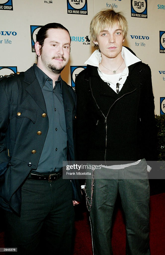 Musicians Alex Band and Aaron Kamin of The Calling attend Clive Davis' legendary Pre-Grammy party at the Beverly Hills Hotel on February 7, 2004 in Beverly Hills, California.