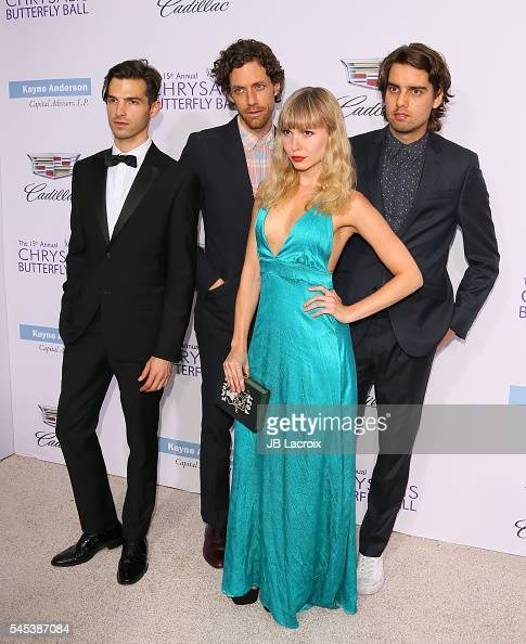 Musicians Alex Greenwald Jason Boesel Z Berg and Michael Runion of the band Phases arrive at the 15th Annual Chrysalis Butterfly Ball at a private...