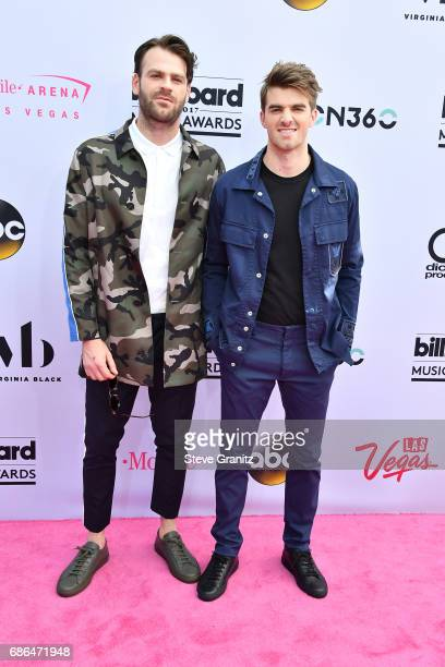 Musicians Alex Pall and Andrew Taggart of The Chainsmokers attend the 2017 Billboard Music Awards at TMobile Arena on May 21 2017 in Las Vegas Nevada