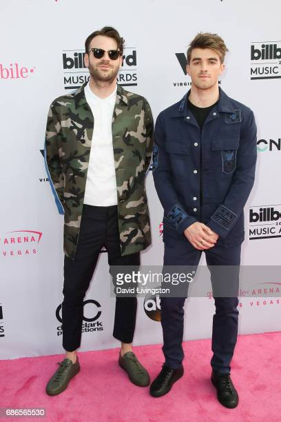 Musicians Alex Pall and Andrew Taggart of The Chainsmokers attend the 2017 Billboard Music Awards at the TMobile Arena on May 21 2017 in Las Vegas...