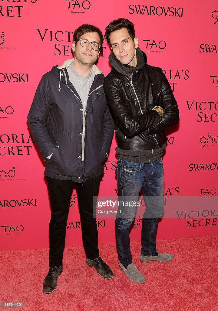 Musicians Alex Suarez and Gabe Saporta attend the 2013 Victoria's Secret Fashion after party at TAO Downtown on November 13, 2013 in New York City.