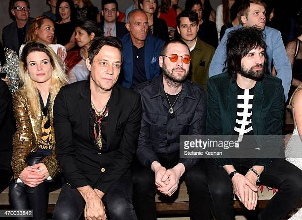 Musicians Alison Mosshart and Jamie Hince of The Kills and Tom Meighan and Sergio Pizzorno of Kasabian attend the Burberry 'London in Los Angeles'...