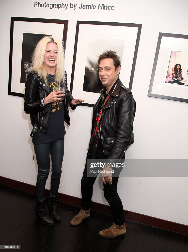 Musicians Alison Mosshart and Jamie Hince of The Kills attend the reception celebrating the book launch for 'Echo Home' by Jamie Hince of The Kills at Morrison Hotel Gallery on November 1, 2014 in West Hollywood, California.