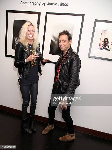 Musicians Alison Mosshart and Jamie Hince of The Kills attend the reception celebrating the book launch for 'Echo Home' by Jamie Hince of The Kills...