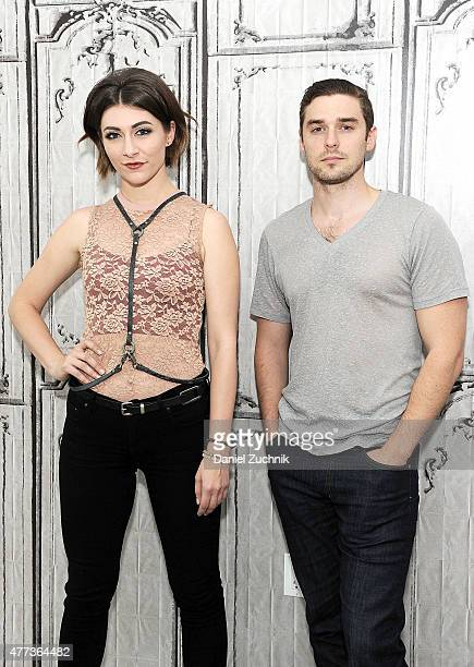 Musicians Amy Heidemann and Nick Noonan of Karmin attend the AOL BUILD Speaker Series Karmin at AOL Studios In New York on June 16 2015 in New York...