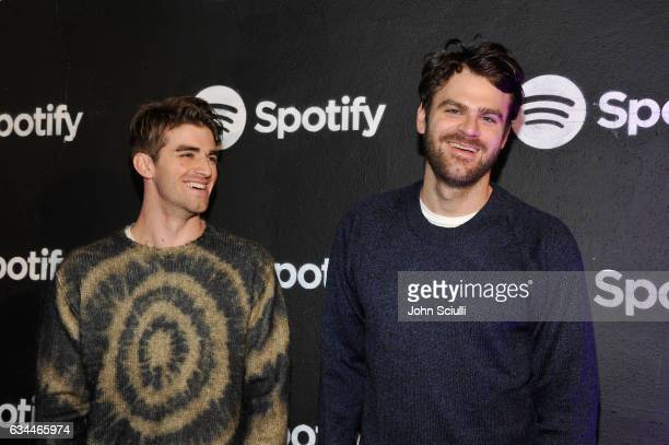 Musicians Andrew Taggart and Alex Pall of The Chainsmokers attend the Spotify Best New Artist Nominees celebration at Belasco Theatre on 9 2017 in...