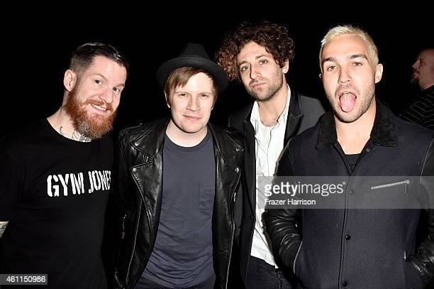Musicians Andy Hurley Patrick Stump Joe Trohman and Pete Wentz of Fall Out Boy attend The 41st Annual People's Choice Awards at Nokia Theatre LA Live...