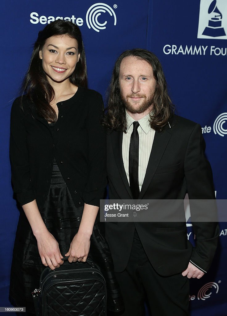 Musicians Ann Marie Simpson and Mike Einziger attend The 55th Annual GRAMMY Awards - Music Preservation Project 'Play It Forward' Celebration highlighting The GRAMMY Foundations ongoing work to safegaurd music's history at the Saban Theatre on February 7, 2013 in Los Angeles, California.