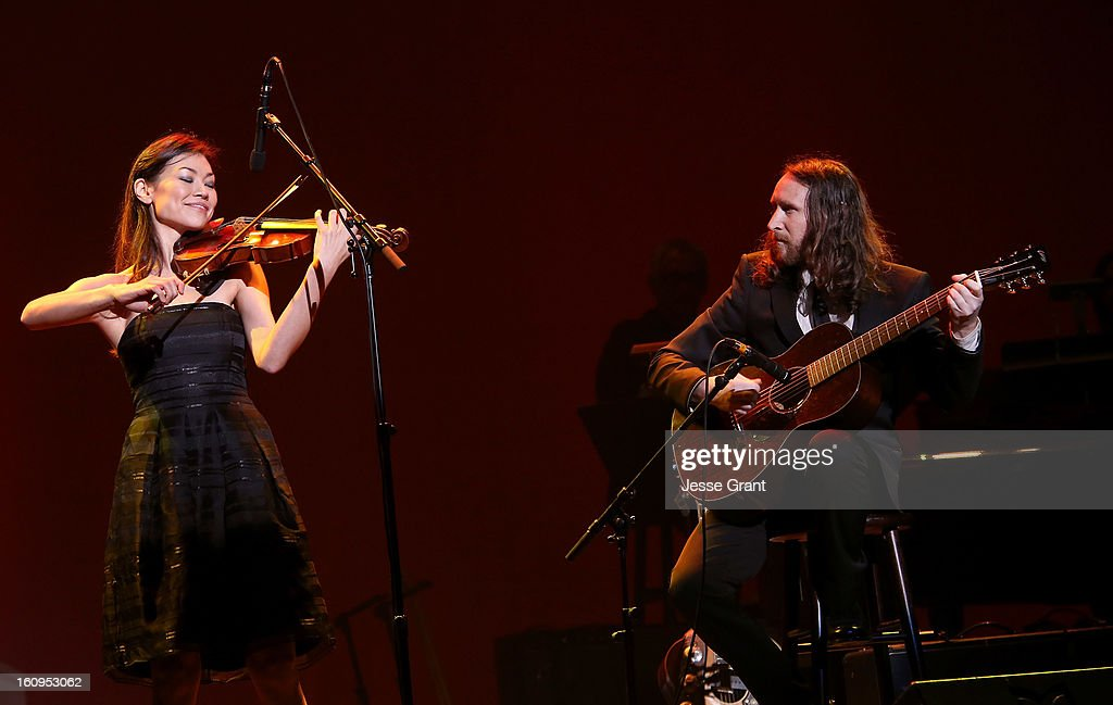 Musicians Ann Marie Simpson and Mike Einziger perform during The 55th Annual GRAMMY Awards - Music Preservation Project 'Play It Forward' Celebration highlighting The GRAMMY Foundations ongoing work to safegaurd music's history at the Saban Theatre on February 7, 2013 in Los Angeles, California.