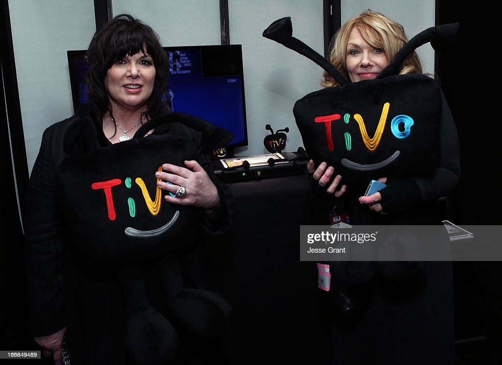 Musicians (L) Ann Wilson and Nancy Willson attend the Gift Lounge at the 28th Rock and Roll Hall of Fame Induction Ceremony presented by I Can't Believe It's Not Butter! 'Breakfast After Dark' produced by On 3 Productions at Nokia Theatre L.A. Live on April 17, 2013 in Los Angeles, California.