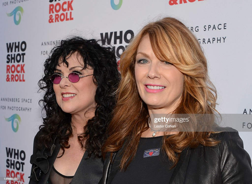 Musicians Ann Wilson (L) and Nancy Wilson of Heart attend the Who Shot Rock & Roll Opening Night VIP Reception at the Annenberg Space For Photography on June 21, 2012 in Century City, California.