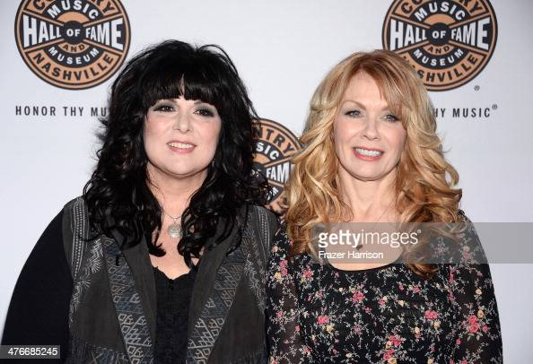 Musicians Ann Wilson and Nancy Wilson of the band Heart arrive at the Country Music Hall Of Fame Museum's 'All For The Hall' fundraising concert at...