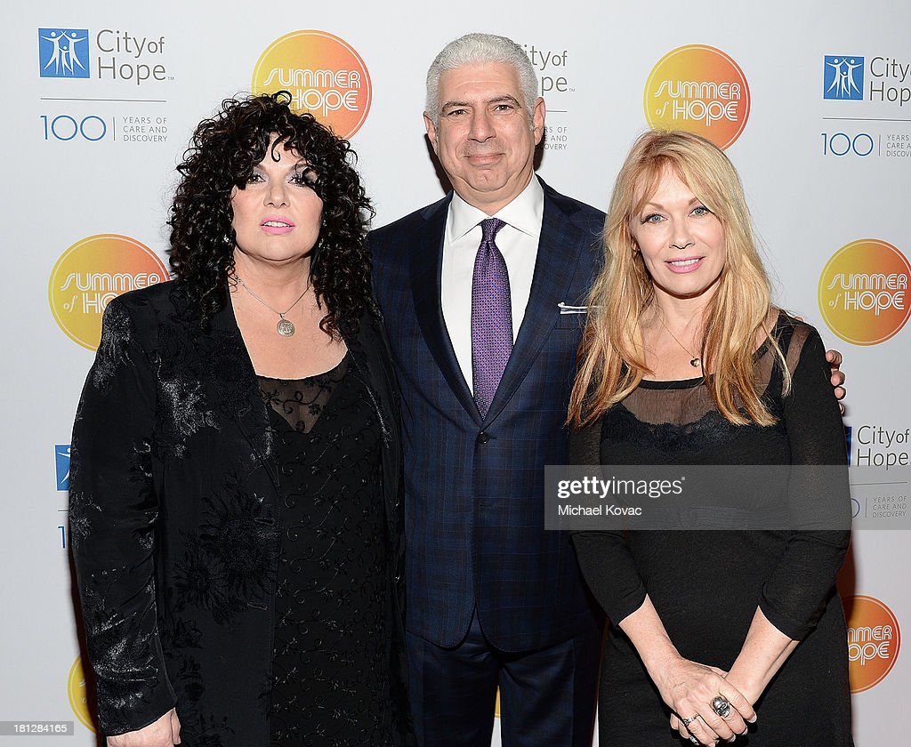 Musicians Ann Wilson, honoree Rob Light, and Nancy Wilson attend the City Of Hope Spirit Of Life Gala Honoring Rob Light on September 19, 2013 in Playa Vista, California.