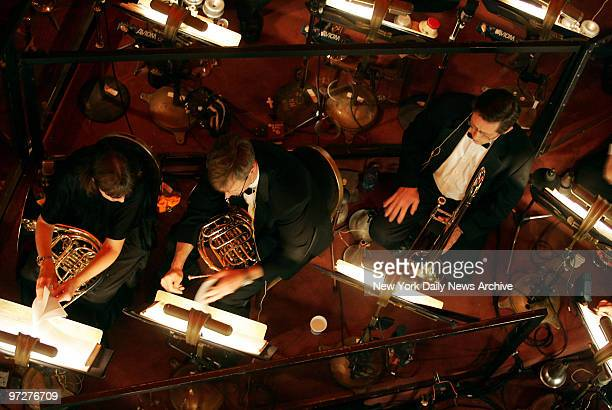 Musicians are in the orchestra pit as live music returns to Radio City Music Hall for today's 230 performance of the 'Christmas Spectacular' the...