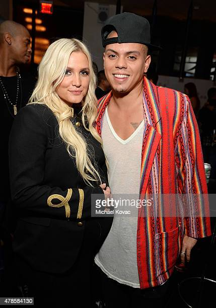 Musicians Ashlee Simpson and Evan Ross attend the W Los Angeles West Beverly Hills and STK Los Angeles Reveal Event at W Los Angeles Westwood on June...