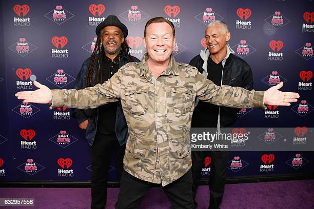 Musicians Astro Ali Campbell and Mickey Virtue of UB40 arrive at the iHeart80s Party 2017 at SAP Center on January 28 2017 in San Jose California