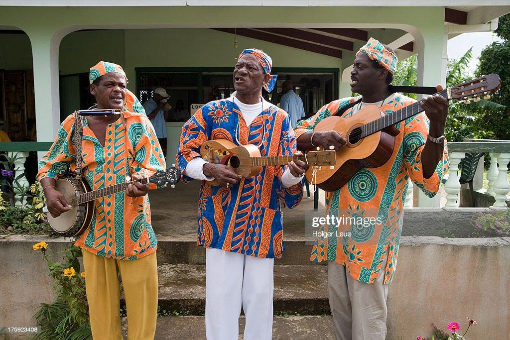 Musicians at Grand Etang Visitor Centre