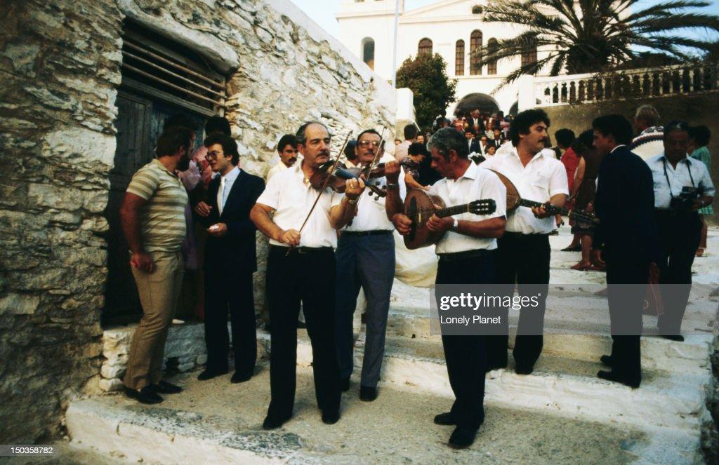 Musicians at Greek wedding.