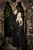 Musicians Avril Lavigne and Chad Kroeger are photographed on their wedding day for People Magazine on July 2 2013 in MandelieulaNapoule France...