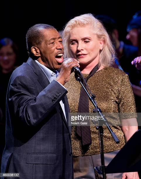 Musicians Ben E King and Debbie Harry perform during the 34th Annual John Lennon Tribute Benefit Concert at Symphony Space on December 5 2014 in New...