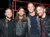Musicians Ben McKee Wayne Sermon Dan Reynolds and Daniel Platzman of Imagine Dragons attend 'The Night That Changed America A GRAMMY Salute To The...