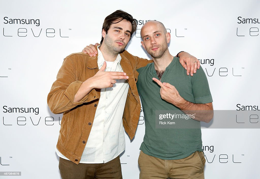 Musicians Ben Schneider and Mark Barry of Lord Huron attend the Lord Huron album listening session at the Samsung Studio at SXSW 2015 on March 20...