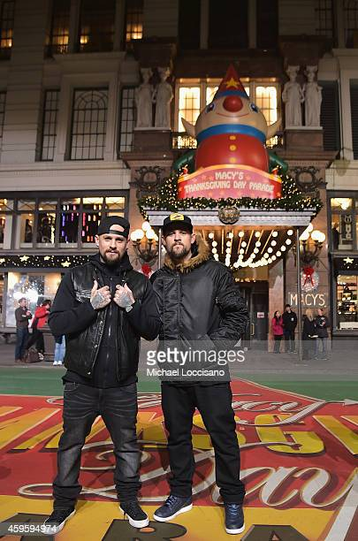 Musicians Benji Madden and Joel Madden take part in the 88th Annual Macy's Thanksgiving Day Parade day 2 rehearsals on November 25 2014 in New York...