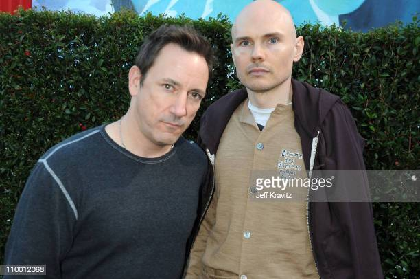 Musicians Billy Corgan and Jimmy Chamberlin of Smashing Pumpkins arrive at SPIKE TV's Scream 2008 Awards held at the Greek Theatre on October 18 2008...