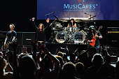 Musicians Billy Morrison Ozzy Osbourne Tommy Clufetos and Slash perform onstage at the 10th annual MusiCares MAP Fund Benefit Concert at Club Nokia...