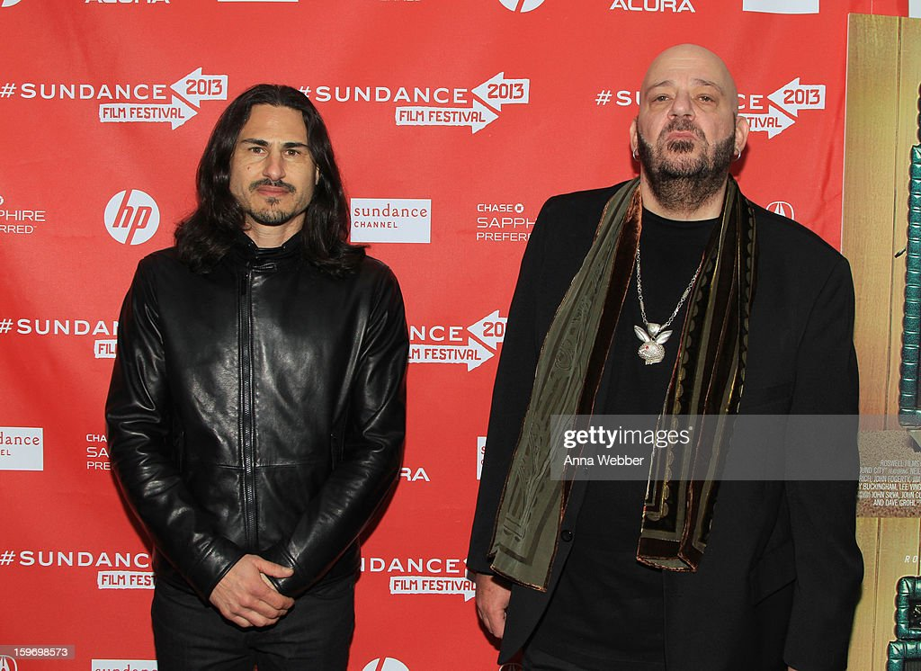 Musicians Brad Wilk and Chris Goss attend the 'Sound City' premiere during the 2013 Sundance Film Festival at The Marc Theatre on January 18, 2013 in Park City, Utah.
