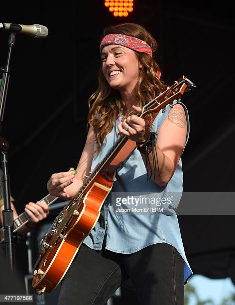 Musicians Brandi Carlile performs onstage at Which Stage during Day 4 of the 2015 Bonnaroo Music And Arts Festival on June 14 2015 in Manchester...