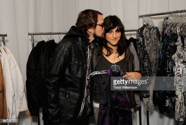 Musicians Brian Aubert and Tracy Marcellino attend GRAMMY Style Studio Day 1 at Smashbox West Hollywood on January 27 2010 in West Hollywood...