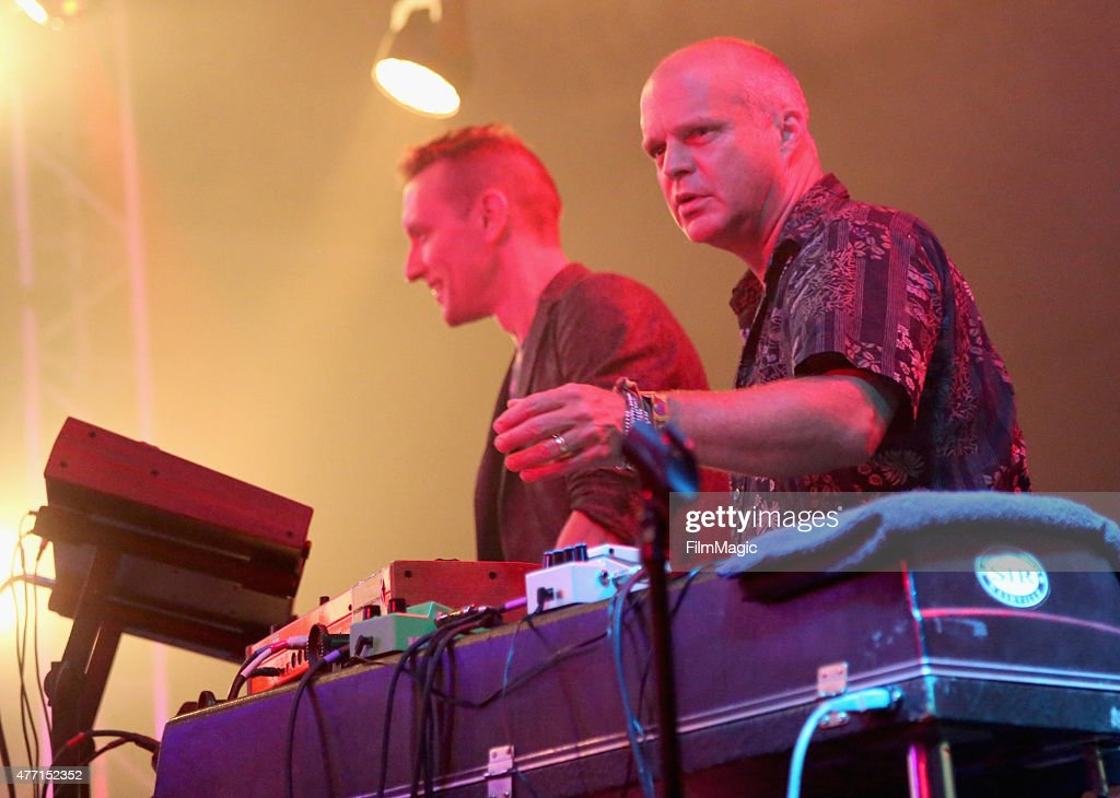 Musicians Brian Coogan and John Medeski perform onstage at The Other Tent as part of the SuperJam during Day 3 of the 2015 Bonnaroo Music And Arts...
